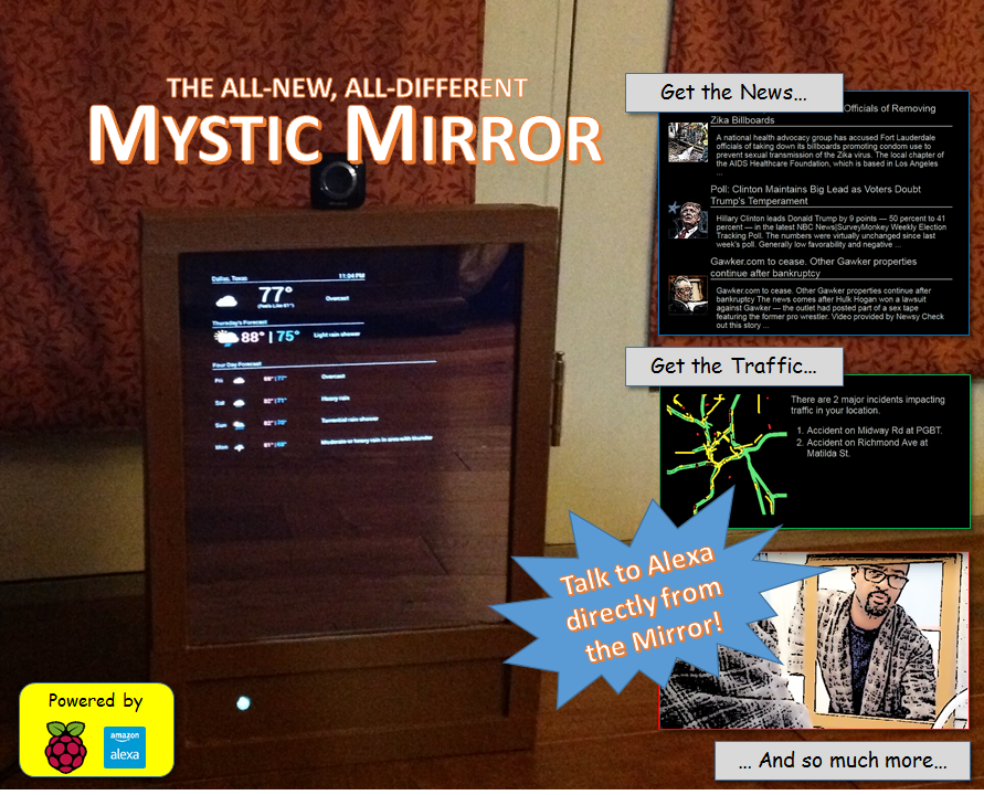 Building a Magic Mirror using Alexa, AWS, and a Raspberry Pi